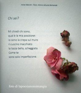 chi sei - poesia di Irene Marchi