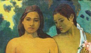 Particolare da Due donne Tahitiane con germogli di mango, di Paul Gauguin, 1899