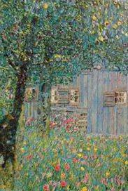 Particolare da Gustav Klimt, Oberosterreichisches Bauernhaus, 1911/1912, Osterreichische Galerie, Wien