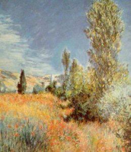 Claude Monet, Sentiero sull'Ile St. Martin, Vetheuil, olio su tela