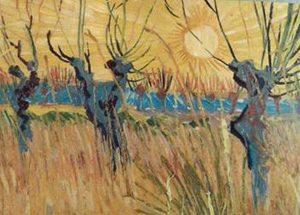 Particolare da Vincent Van Gogh, Gelsi potati al tramonto, 1888, Otterlo, Kroller-Muller Museum, The Netherlands