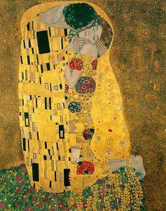 Particolare da Il bacio di Gustav Klimt,1907-08, Österreichische Galerie Belvedere di Vienna