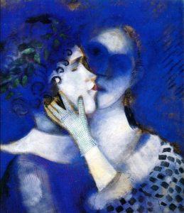 Marc Chagall, Gli amnti blu, 1914