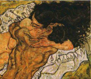 Egon Schiele, L'abbraccio, 1917