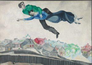 Marc Chagall, Sulla città, 1918