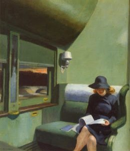 Edward Hopper, Lettrice in treno, 1965