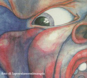 Particolare della copertina dell'album In the Court of the Crimson King, King Crimson, 1969