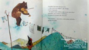 Illustrazione da Dimmi, cos'è un sogno?, di Hubert Schirneck, illustrazioni di Sylvia Graupner, tr. di Roberta Scarabella, Motta Junior Editore, 2004