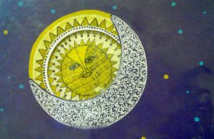 "Illustrazione da ""Sun and Moon"", aa.vv. Tara Books, Chennai, India, 2006"