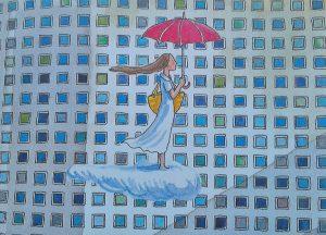 """Illustrazione tratta dal libro """"Incontri-Disincontri"""", Jimmy Liao, traduzione di Silvia Torchio, Terre di Mezzo editore, 2017"""