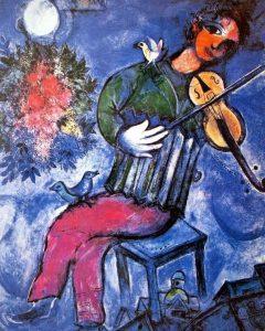 Marc Chagall - La violiniste bleu - 1947