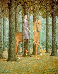 René Magritte La firma in bianco (Le blanc-seing), 1965, (olio su tela, 81x65 cm, Washington, National Gallery of Art)