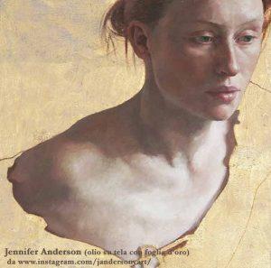 Jennifer Anderson portrait, olio su tela