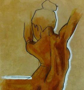 Nudo donna - watercolors (Federico) copia