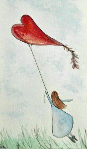 aquilone cuore volare