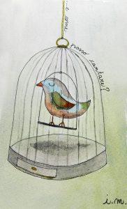 uccellino in gabbia non canta
