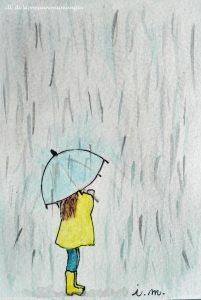 ombrello azzurro pioggia mimetizzarsi