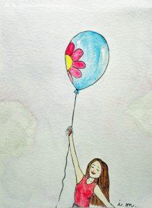 volare via palloncino primavera leggerezza